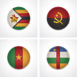 Flags of countries as fabric badges Stock Photography