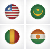 Flags of countries as fabric badges Royalty Free Stock Photo