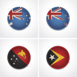 Flags of countries as fabric badges Royalty Free Stock Images