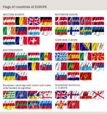 Flags of countries of Europe big flag set Stock Image
