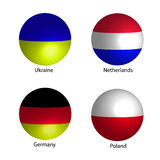 Flags of countries. Illustration cute Royalty Free Stock Image