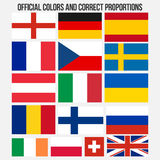 Flags of countries with official colors and correct proportions Royalty Free Stock Image