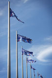 Flags of the countries-participants of Winter Olympic Games Royalty Free Stock Images