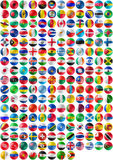 Flags of countries on jigsaw ball. Flags of countries superimpose onto a jigsaw ball Stock Photos