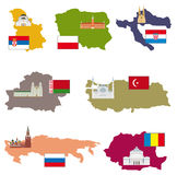 Flags and countries Royalty Free Stock Photography