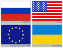Flags of countries Royalty Free Stock Photo
