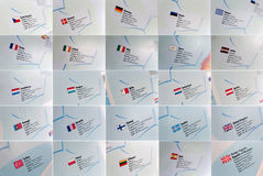 Flags and country details Royalty Free Stock Photos