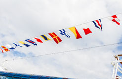 Flags on the cruise Stock Photo
