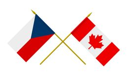 Flags, Czech Republic and Canada Royalty Free Stock Photos