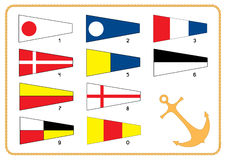flags den nautiska signaleringen royaltyfri illustrationer