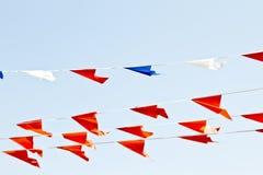 flags den nederländska orangen Arkivfoto