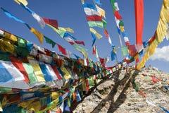 flags den tibetana lhasa bönen Arkivfoton