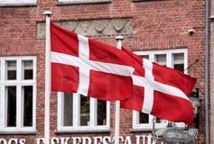 Flags of Denmark Stock Image