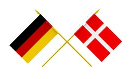 Flags, Denmark and Germany Stock Photography