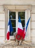 flags det franska fönstret Arkivfoton