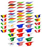 Flags of the different countries. Stock Photo