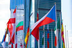 Flags of the different countries Royalty Free Stock Photos