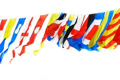 Flags of different countries. Over white Royalty Free Stock Images