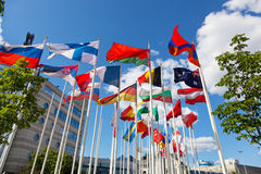 Flags of the different countries Stock Photo