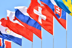 Flags of different countries Stock Images