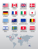 Flags of different countries. Stock Photos