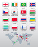 Flags of different countries. Stock Photography