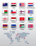 Flags of different countries. Stock Photo