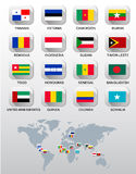 Flags of different countries. Royalty Free Stock Photography