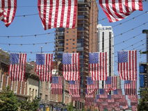 Flags in Downtown Denver Stock Images