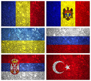 Flags of Eastern Europe part 2 Royalty Free Stock Photos