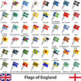 Flags of England, UK Stock Image