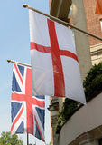 Flags of England and United Kingdom Royalty Free Stock Image