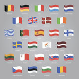 Flags of EU countries. Set EPS 10 Royalty Free Stock Images