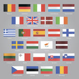 Flags of EU countries Royalty Free Stock Photos