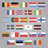 Flags of EU countries. Set EPS 10 Royalty Free Stock Photos