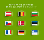 Flags of EU countries Stock Photography