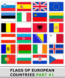 Flags of europe #1 Stock Photo