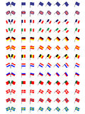 Flags of Europe 1 (No Coats of Arms) Royalty Free Stock Photo