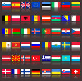 Flags of europe stock photo