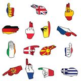Flags of Europe Royalty Free Stock Photography