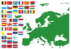 Flags of Europe Stock Images