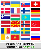 Flags of europe #2 Royalty Free Stock Image