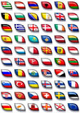 Flags of Europe 2. 60 flags icons (buttons) of Europe 600x504 pixels including not recognised countries royalty free illustration
