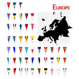 Flags of Europe Stock Photography