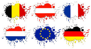 Flags of Europe as spots Royalty Free Stock Photos