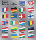 Flags of Europe Countries Vector Set Stock Images