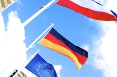 Flags of Europe and Germany Stock Photos