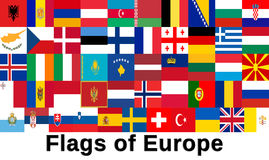 Flags of Europe Royalty Free Stock Images