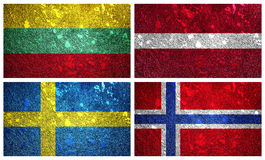 Flags of Europe North part 2 Stock Photos