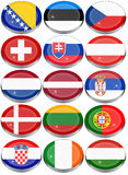 Flags of Europe Stock Photos